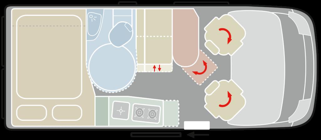 VANTourer 540D Raumbad